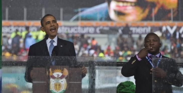 intérprete sinais mandela obama