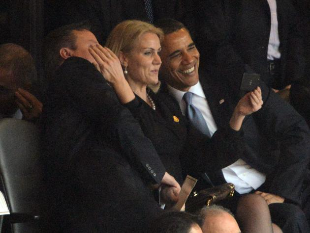 obama mandela Thorning-Schmidt  slfie