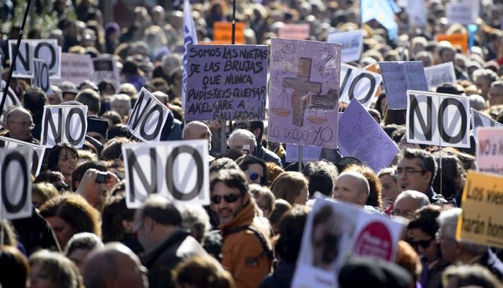 protesto aborto espanha