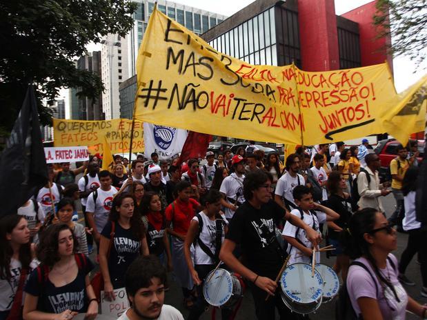 estudantes protesto alckmin metrô