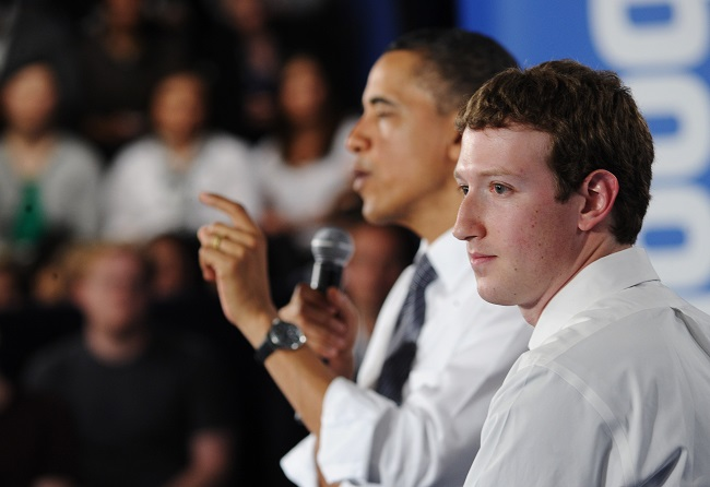 zuckerberg obama facebook