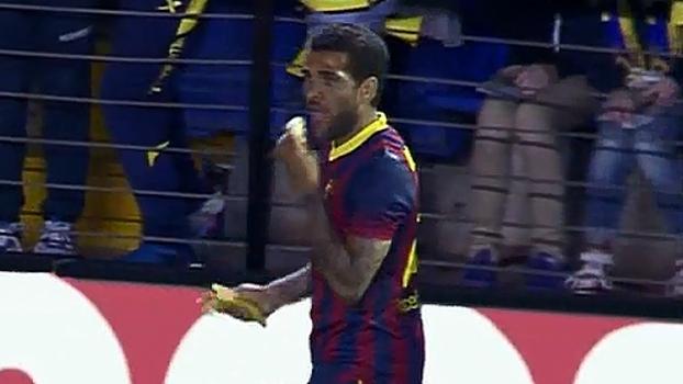daniel alves racismo no futebol banana Vicente Del Bosque