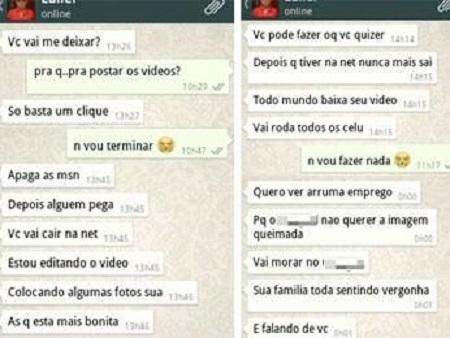 homem divulgar vídeo namorada internet