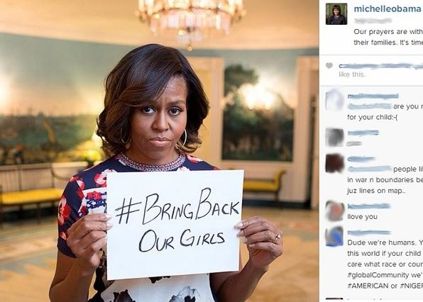 michelle obama meninas sequestradas nigéria