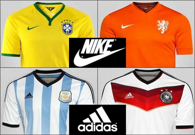 62f22ef118e Conspiração  Nike e Adidas disputando o título da Copa 2014
