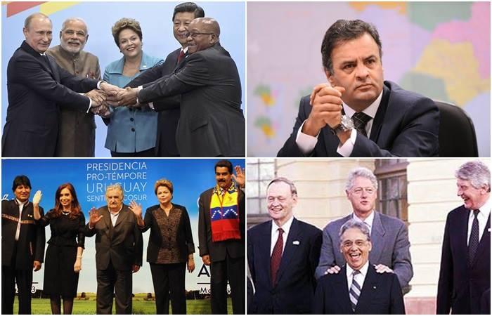 dilma aécio política externa brics