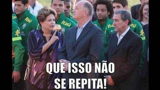 Após o sufoco passado contra o Chile, a presidente Dilma Rouseff 'dá uma bronca' em Felipão