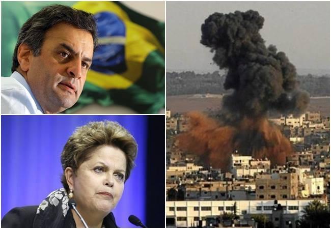 psdb israel gaza palestina dilma aécio