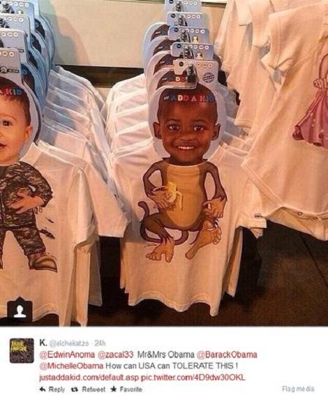 racismo loja camisa eua macaco