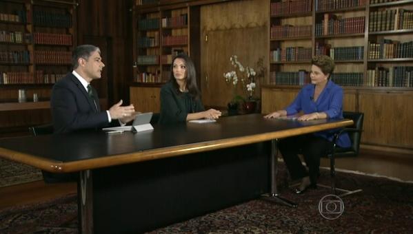 entrevista de Dilma Rousseff no Jornal Nacional