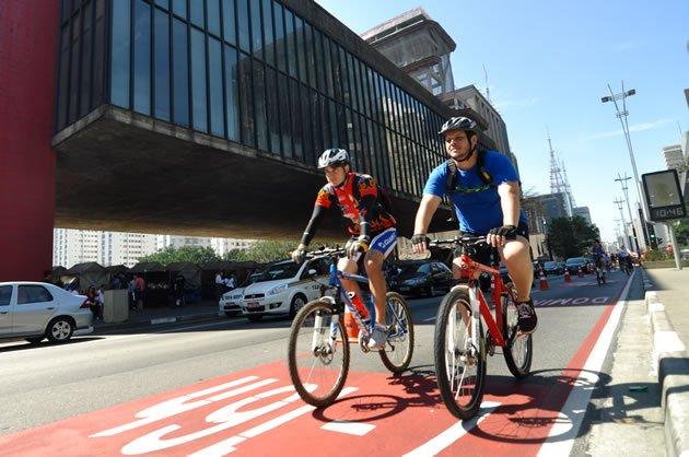 ciclofaixa bicicleta são paulo mobilidade