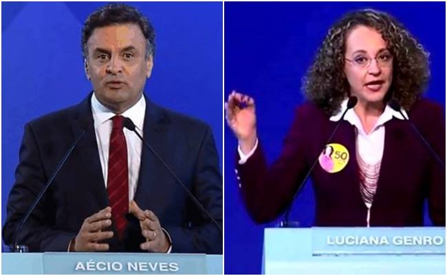 luciana genro aécio neves debate