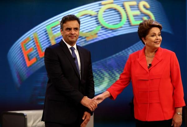 Dilma e Aécio no último debate do segundo turno na Rede Globo (Imagem: Wilton Júnior/Estadão)