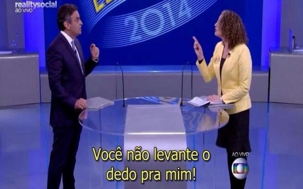 Luciana Genro reage Aécio debate da Globo