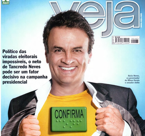 Revista Veja  propaganda para Aécio