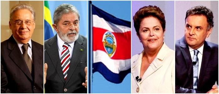 FHC Lula Costa Rica Dilma Aecio