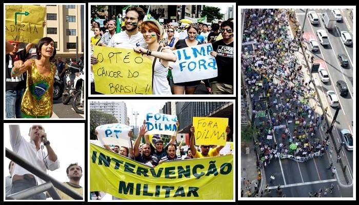 impeachment dilma marcha fascista em São Paulo