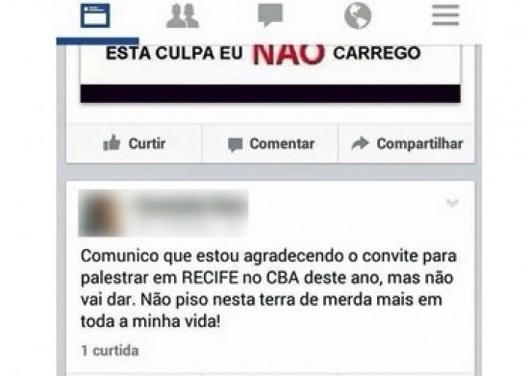 méMédico se recusa a palestrar em Pernambuco anestesista