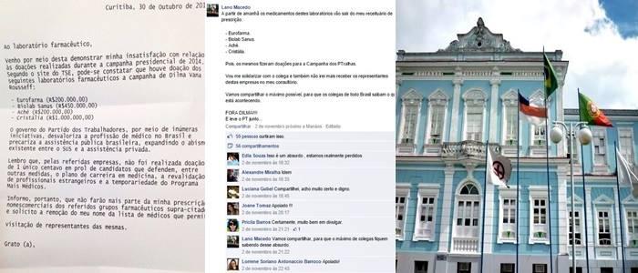 Laboratórios que apoiaram Dilma médicos contra eleitores manaus