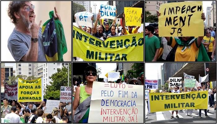 impeachment dilma protesto intervenção militar