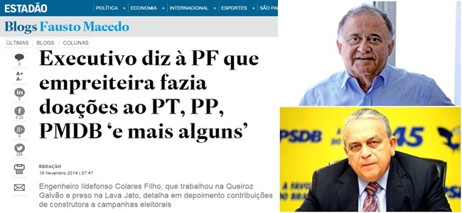omitir o PSDB da corrupção na Petrobras lava jato PF