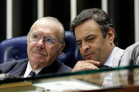 sarney voto aécio neves