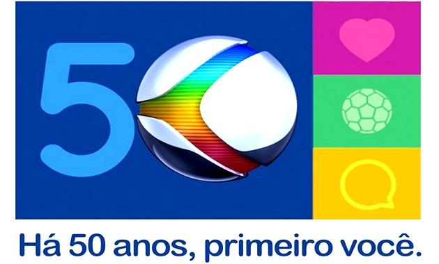 selo 50 anos rede globo histórias