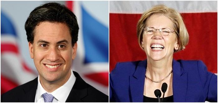 Ed Miliband Reino Unido EUA Elizabeth Warren eleições