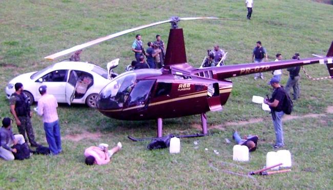 helicóptero Perrella pó cocaina fazenda Minas Gerias