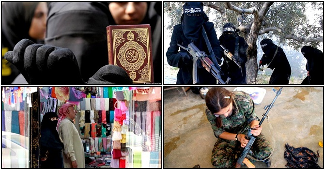 Mulheres Estado Islâmico religião amor síria