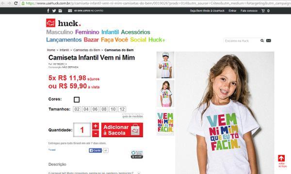 camiseta luciano huck vem ni mim