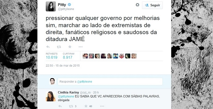 pitty protesto impeachment dilma twitter