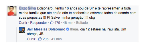 bolsonaro facebook jean wyllys