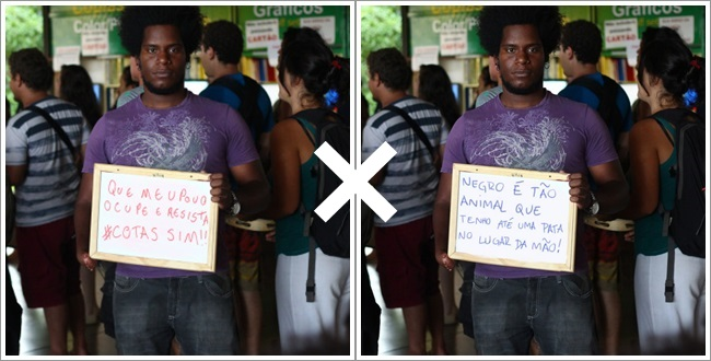 ódio contra negros frases racismo