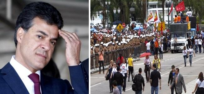 Paraná Professores protestos PSDB Beto Richa democracia sitiada