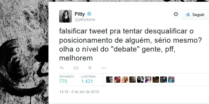 pitty ódio twitter alckmin falso
