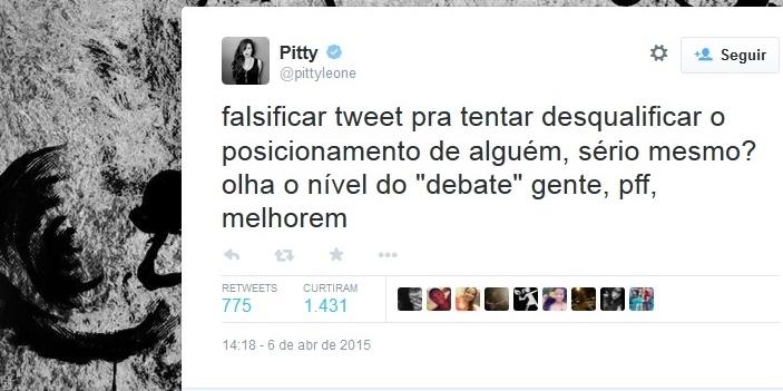 pitty ódio twitter alckmin falso