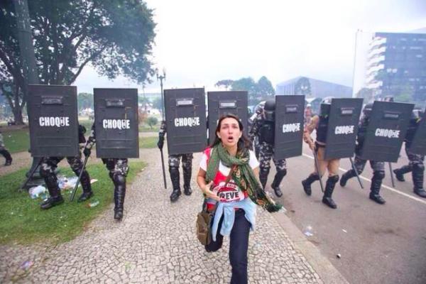 professora pm protesto paraná