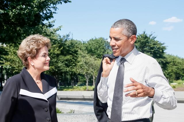 Dilma Obama luther king memorial