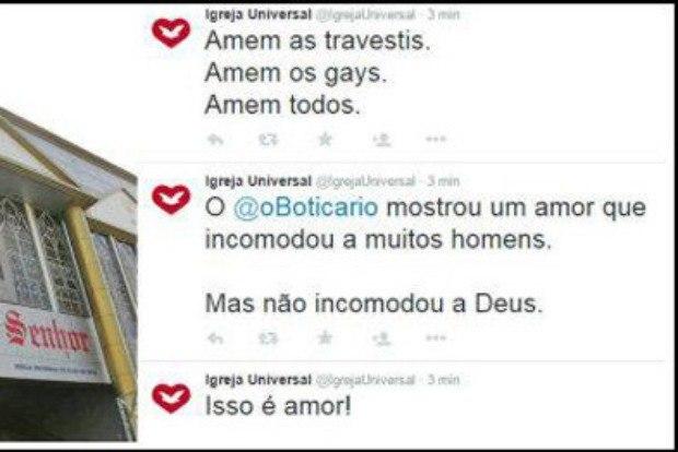 twitter Igreja Universal hackers homofobia