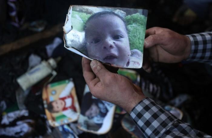 bebê palestino incêndio israelenses