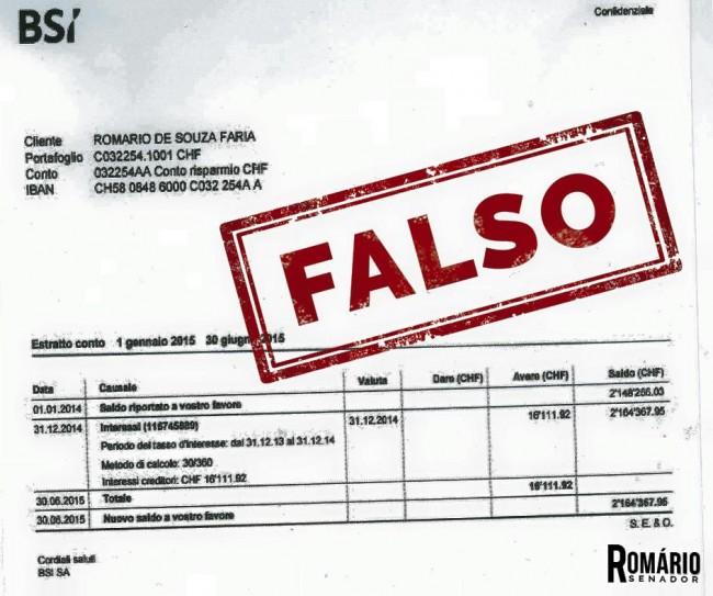 romário extrato bancário veja falso