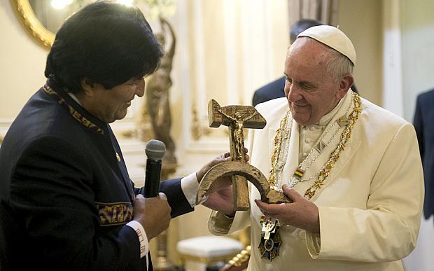 evo morales papa francisco bolívia