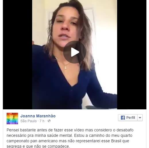 Joanna Maranhão desabafa aprovação da redução da maioridade penal