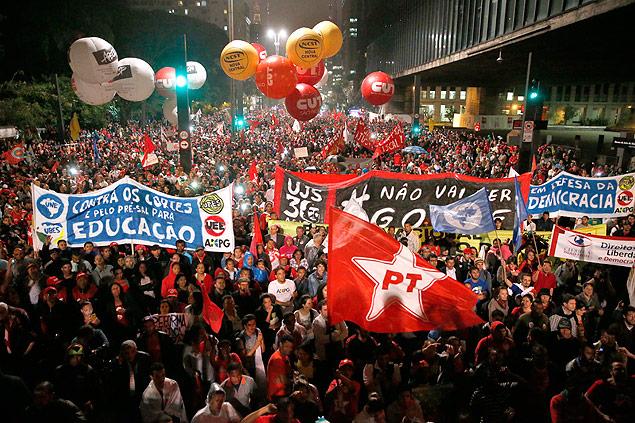golpe impeachment manifestantes paulista
