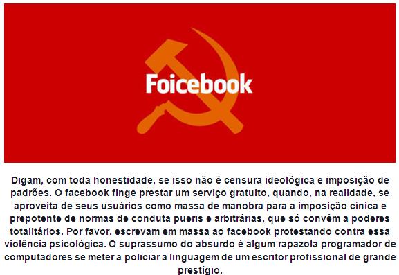 astrólogo olavo de carvalho facebook comunista