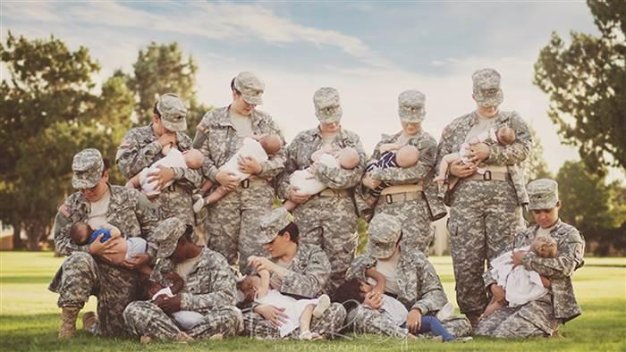 mães militares também amamentam forças armadas EUA