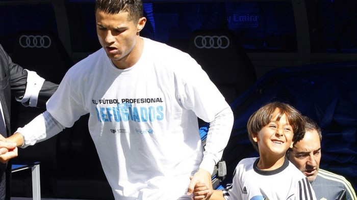 menino sírio Cristiano Ronaldo