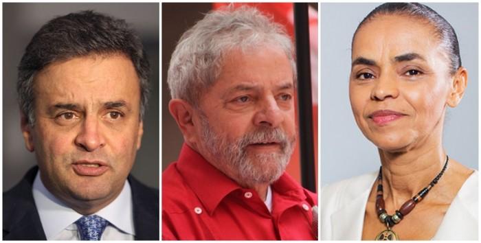 Aécio Lula Marina eleições 2018