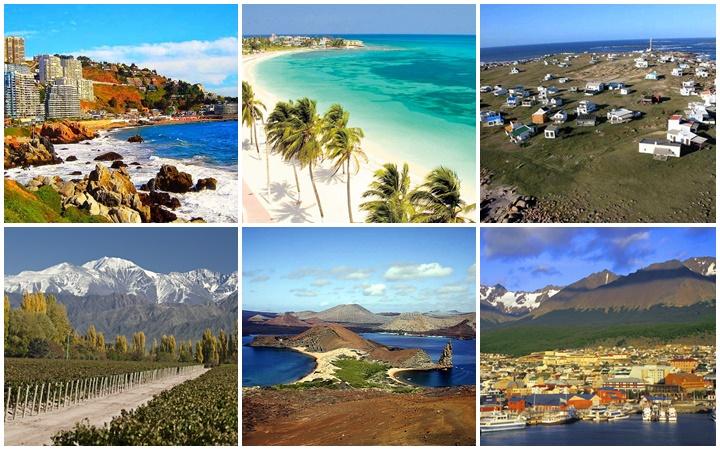 turismo cidades América do Sul